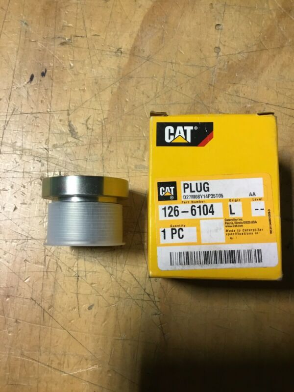 CATERPILLAR CAT HYDRAULIC VALVE PLUG - 126-6104 - NEW