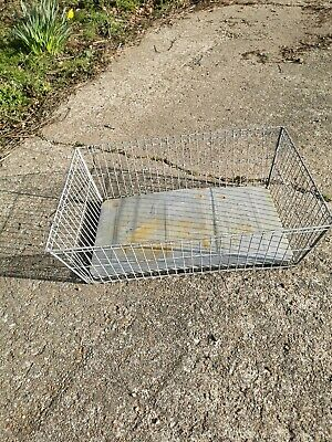 OLD VINTAGE INDUSTRIAL GALVANISED BASKET CRATE / FIRESIDE  LOG BASKET STORAGE