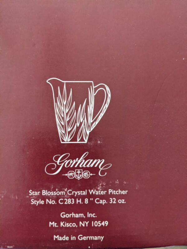 Gorham Star Blossom 32 Ounce Crystal Pitcher