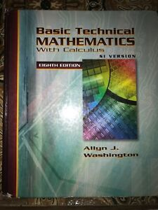 Basic technical mathematics with calculus by Washington