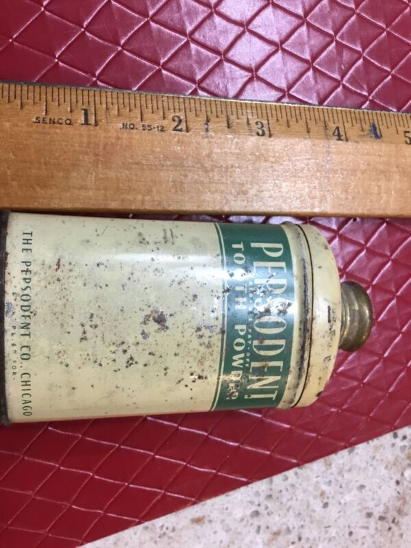 Rare Version Vintage Pepsodent Tooth Powder Tin Dentistry