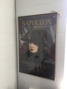 Vintage NAPOLEON musical score 1980's frame poster.