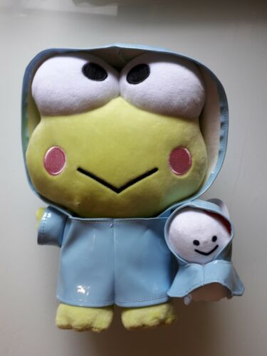 Sanrio Keroppi Wear Raincoat Plush 8""