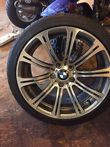 Real BMW M3 super sport rims and tires