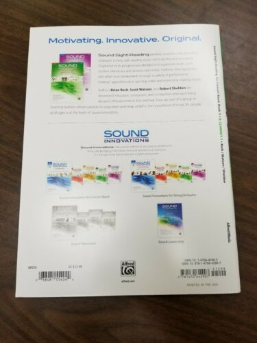 Alfred Publishing Sound Sight-Reading Book - Bb Clarinet 1, Book 1