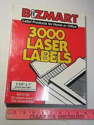 3000 White 1x2 58 Laser Printer Address Shipping Labels 100 Sheets Avery 5160