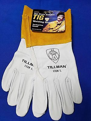 Large Tig Welding Tillman Gloves 1328 L 4 Cuff Kidskin Leather Usa Fast Ship