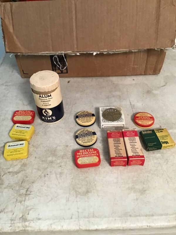 Collection of 12 Medical Theme Advertising Tins & Boxes