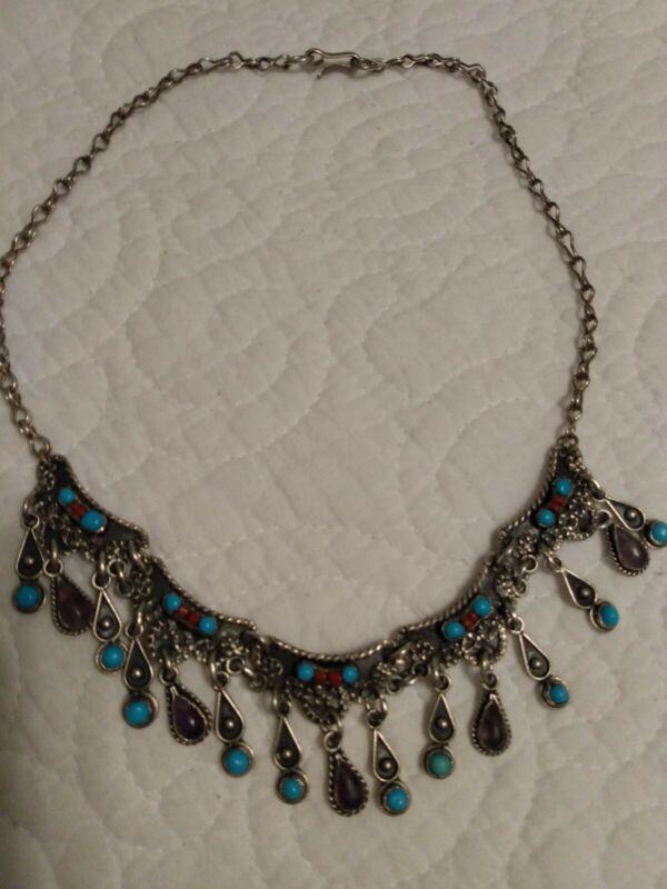 MATL Salas/Rivera Taxco Mexico Sterling Silver 925 Necklace Matilde Poulat