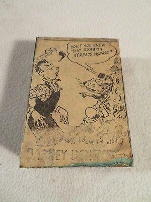 Engraved Printing Machine Press Stamp Barney Bonemeal Cartoon Rats