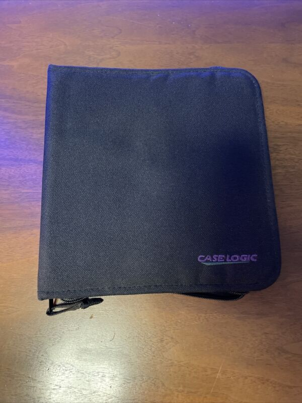 Case Logic Black MiniDisc MD Storage Carrying Case 6-page Holds 24 Discs