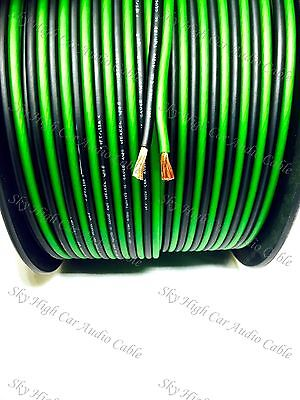 200 Feet True 12 Gauge Awg Green Bk Speaker Wire W  Spool Car Home Audio Ft Ga