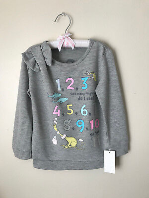Dr Seuss 12 Months 5T Numbers Sweatshirt Pullover Girl Toddler Clothes