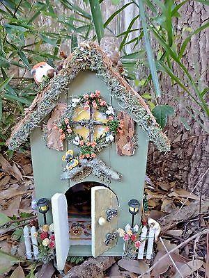 Miniature Dollhouse Fairy House Garden Mini Fairies Cottage OOAK Handmade
