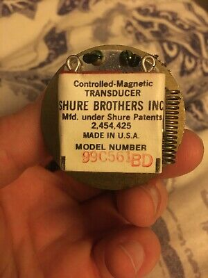 Shure Controlled Magnetic Transducer 99C561 BD Microphone Element Made in USA