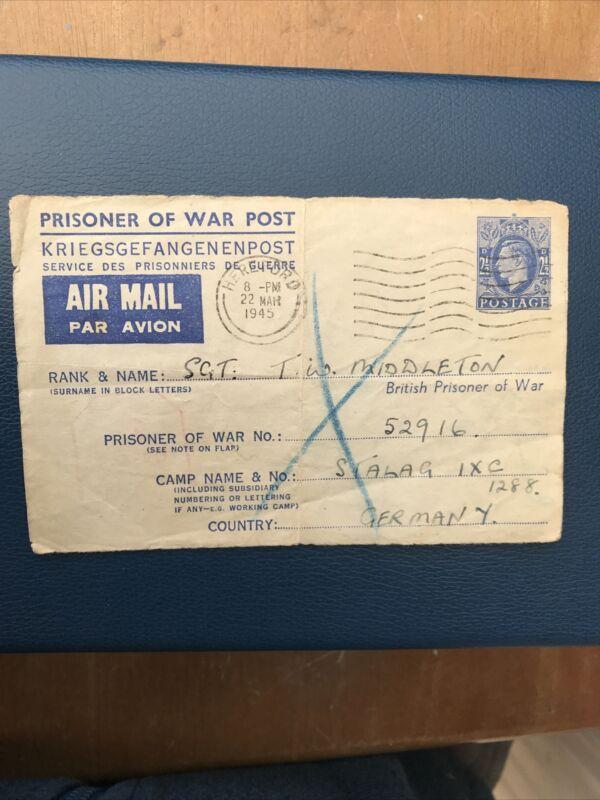 PRISONER OF WAR POST - No 52916 - STALAG IXC 1288 - 1945 - Acceptable Cond