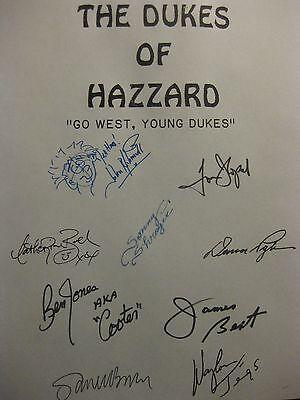 Dukes of Hazzard Signed TV Script Tom Wopat John Schneider Jennings Go West rpnt
