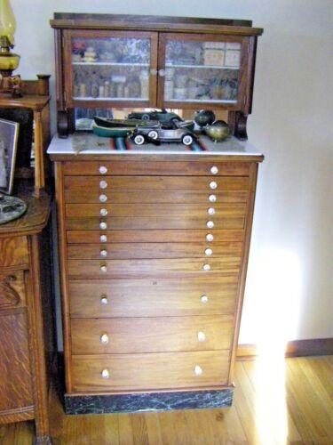 Vintage 11 Drawer Dental Cabinet