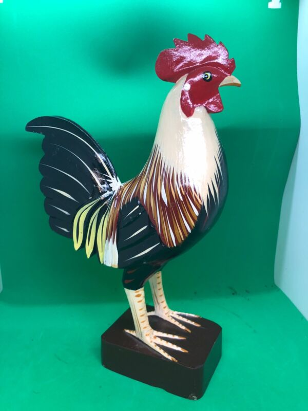 """Wooden Rooster 12"""""""