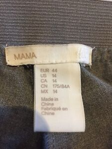 Grey H&M Maternity Cropped Dress Pants