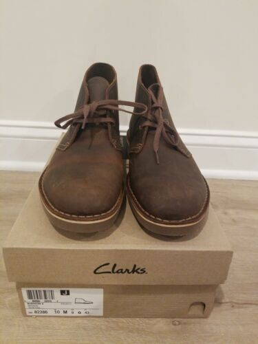 Clarks, Bushacre 2, Men's Dark Brown Leather Beeswax Ankle