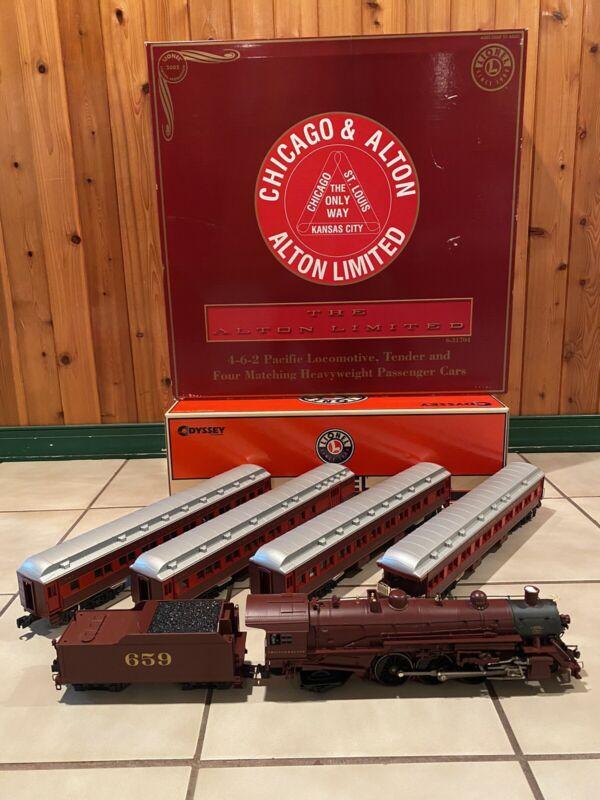 NOS 2002 Lionel 6-31704 4-6-2 Chicago & Alton O Gauge Diecast Train Set NIB