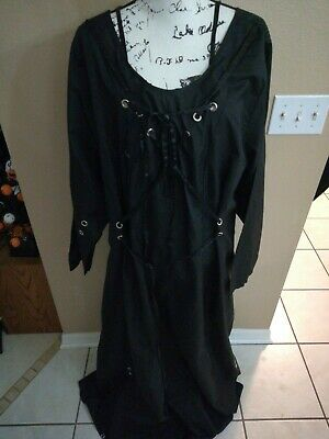 Funhouse Torrid Black Long Halloween Costume Dress Plus Size 4X Gothic Steampunk