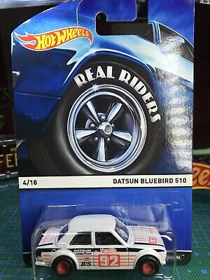 🔴Hot Wheels Heritage Series Real Riders Datsun Bluebird 510 White Color