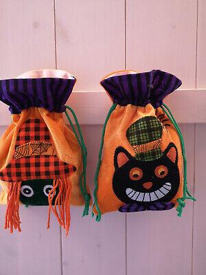 Halloween Trick or treat Beutel Tasche Hexe Katze neu