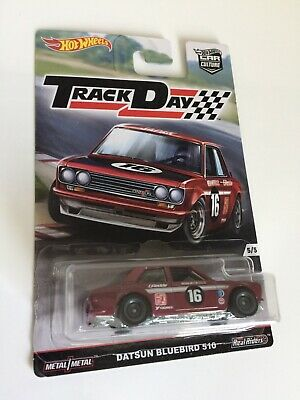 🔴WoW🔴 Hot Wheels Car Culture Track Day Datsun Bluebird 510 super Real Riders