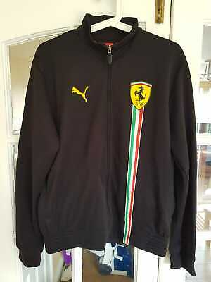 Black Puma Ferrari Zip Up High Collar Mens Jacket Size M