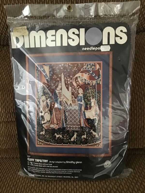New Vintage Dimensions Cluny Tapestry 2107 Medieval Needlepoint Kit Timothy Glen