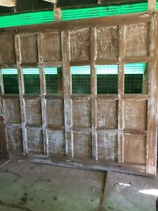 Rustic wood garage door