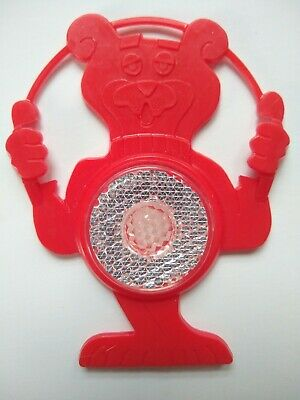 Vintage Post Sugar Crisp Cereal Premium Sugar Bear Bicycle Reflector Red B