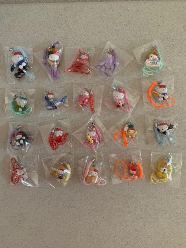 Lot of 20 Hello Kitty costume Figurine Phone Charm Strap New #5