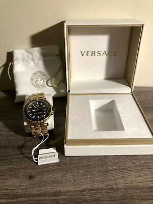 Versace V-Race Diver Two-tone Stainless Steel Chronograph Men's Watch 100%