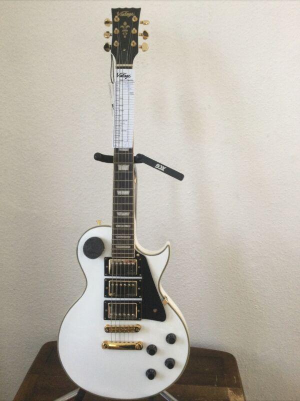 Vintage Three Pick Up LP Guitar. V1003AW [ARCTIC 3 PU]