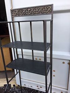 Grey/dull black metal washroom/bathroom storage shelving unit  London Ontario image 1