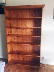 Large Solid Timber Bookcase Bookcases Shelves