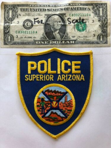 Superior Arizona Police Patch Un-sewn in mint shape