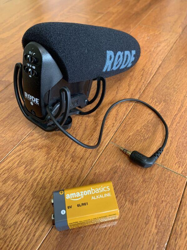 Rode VideoMic Pro R Camera Mount Shotgun Microphone + 9v Battery