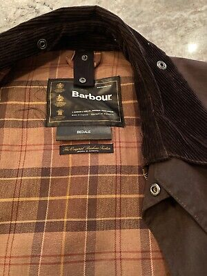 Superb Mens Barbour Bedale Waxed Jacket Brown Size 40 Medium