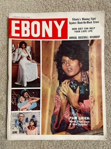 Vintage June 1976 Ebony Magazine, Pam Grier