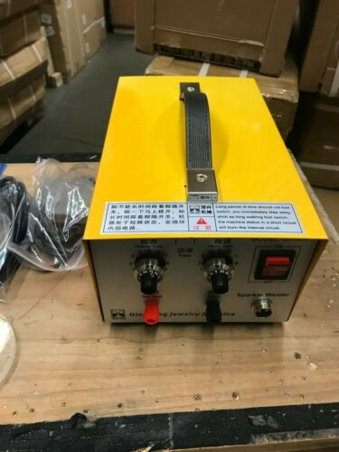 110V Pulse Sparkle Spot Welder Jewelry Welding Machine 200W Used