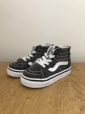 Vans Infant Toddler Trainers / Shoes Size 4 Grey / High Top