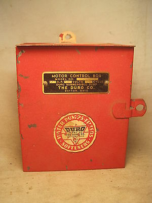 Duro Submergible Pump Motor Control red Box 450751 lock metal electrical switch