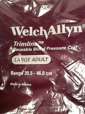 Welch Allyn Trimline Large Adult Bp Cuff 1902ck 2-tube Brand New Oem Pack
