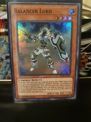 YuGiOh Balancer Lord - MYFI-EN047 - Super Rare - 1st Edition Near Mint