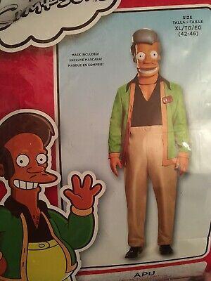 Mens Adult Deluxe APU The Simpsons Kwik E Mart Costume ADULT X-LARGE - Apu Simpsons Kostüm