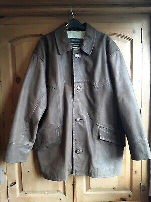 Vero Cuoio Genuine Leather Ciro Citterio Medium Mens Brown Leather Jacket.Size M